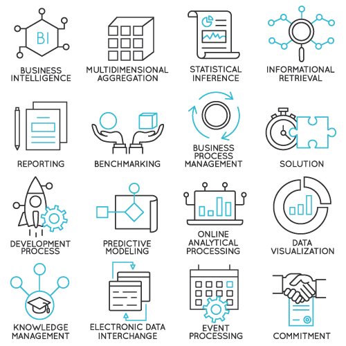 business intelligence icons